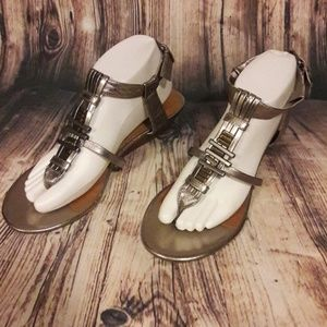 Dolce Vita metallic silver sandals size 8.5